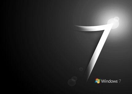 logo win7 negro