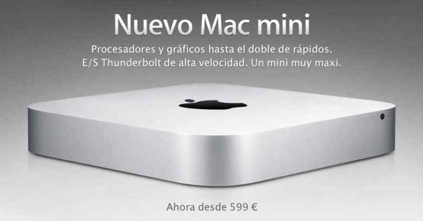 Nuevo Mac mini con Sandy Bridge, Thunderbolt y Lion
