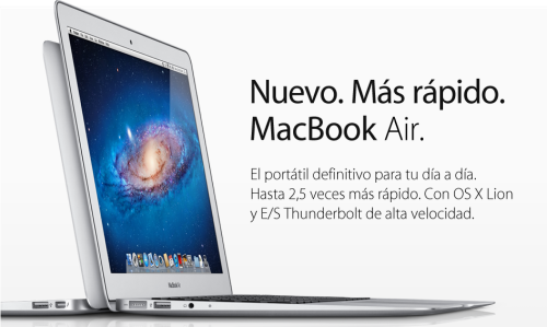 Nuevos MacBook Air con Thunderbolt y teclado retroiluminado