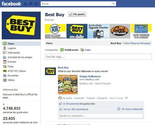facebook bestbuy Cómo mejorar un servicio de atención al cliente a través de Facebook o Twitter
