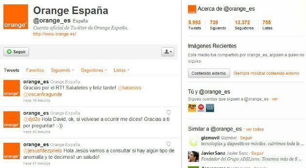 twitter orange Cómo mejorar un servicio de atención al cliente a través de Facebook o Twitter