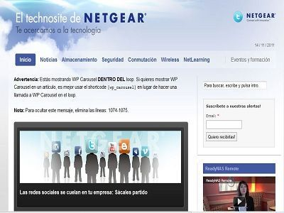 Netgear inaugura en España su nueva web