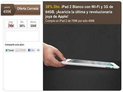 Una oferta cancelada en LetsBonus deja sin iPad 2 a 1.500 compradores