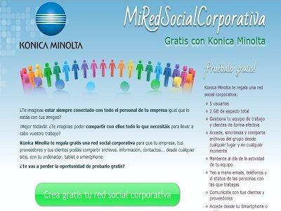 Konica Minolta presenta las posibilidades de su Red Social Corporativa