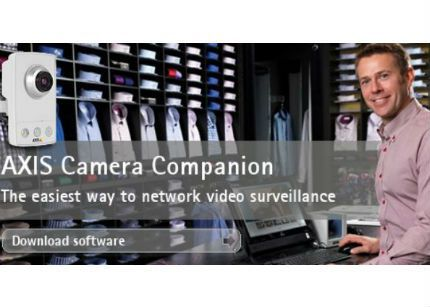 Afina distribuirá el software para cámaras en red Axis Camera Companion