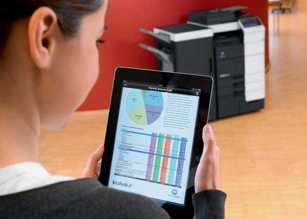 El software de impresión cloud de Konica Minolta, disponible para dispositivos Android