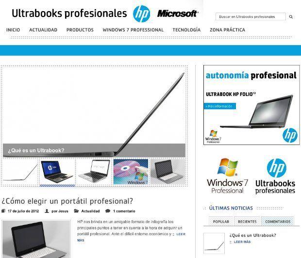 Todo sobre los ultrabooks profesionales en ultrabookprofesional.com