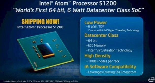 Intel Atom S 2 630x338 Intel presenta el procesador para servidores Atom S