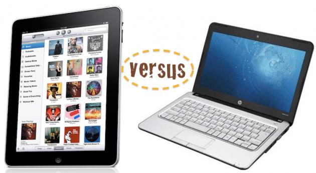 ipad vs netbook 630x345 El mercado del netbook está muerto oficialmente