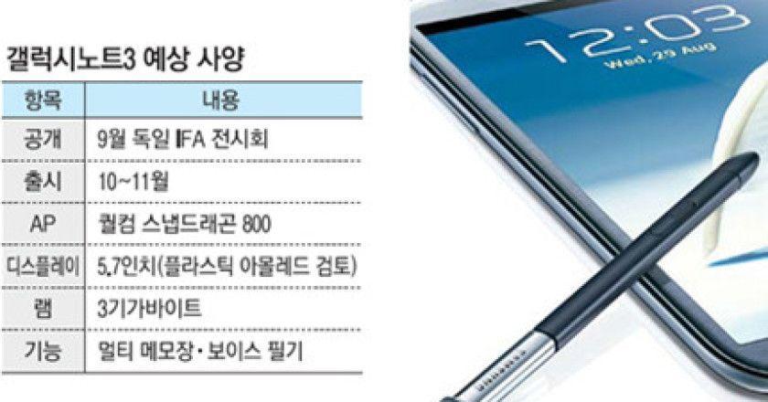 Galaxy Note III, especificaciones filtradas