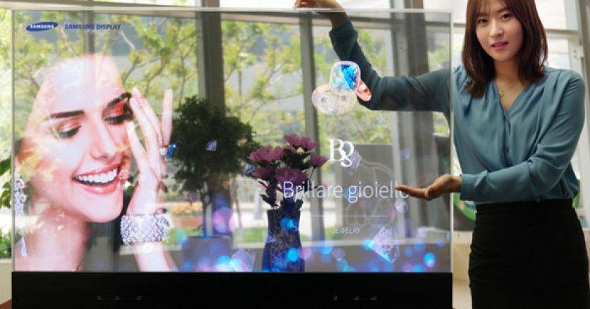 paneles OLED transparentes