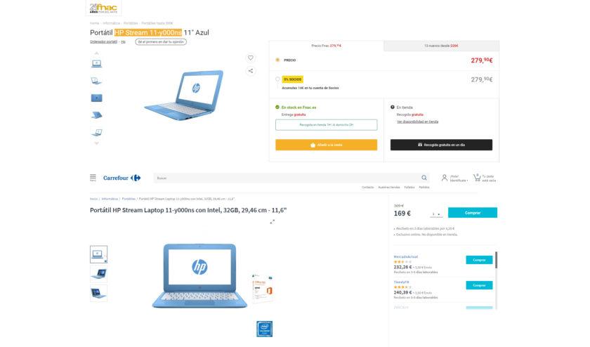 Diferenciación precios Ecommerce Etailer